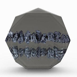 Raw Carbonados black diamonds Acrylic Award