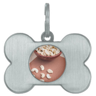 Raw cashew nuts for vegetarian food pet name tag