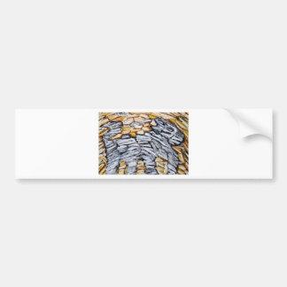 Raw Cave Dog (raw expressionism) Bumper Sticker