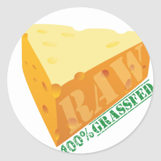 Raw Cheese Organic Planet Stickers
