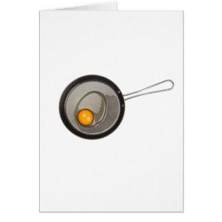 Raw chicken egg card