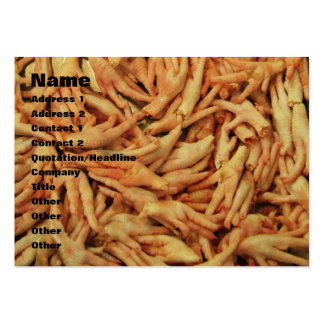 Raw Chicken Feet Large Business Cards (Pack Of 100)