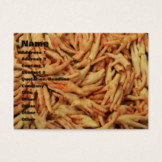 Raw Chicken Feet Business Card