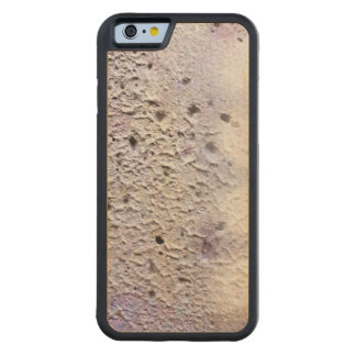 Raw concrete carved maple iPhone 6 bumper case