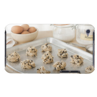 Raw cookies on baking tray iPod touch covers