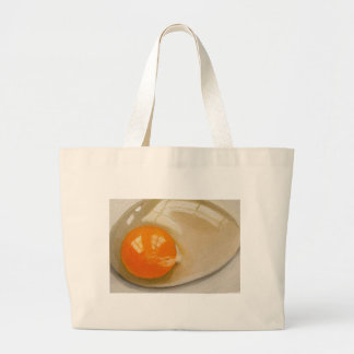 RAW EGG REALISM ARTWORK CANVAS BAGS