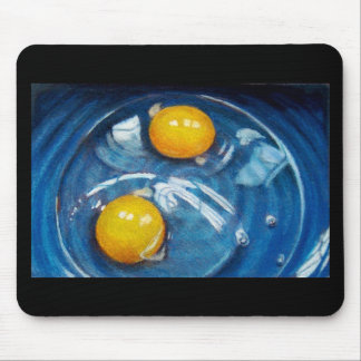 RAW EGGS IN BLUE BOWL MOUSE PAD