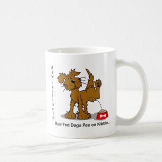 Raw Fed Dogs Pee on Kibble Classic White Coffee Mug