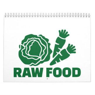 Raw food calendar