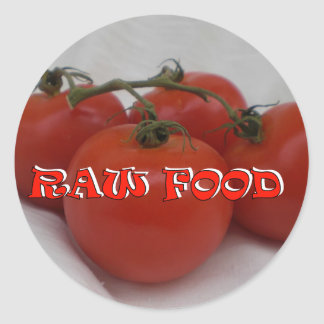 RAW FOOD CLASSIC ROUND STICKER