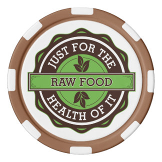 Raw Food Just For the Health of It Poker Chips Set