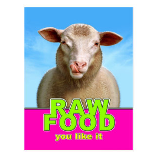 RAW FOOD you like it Postcard