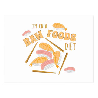 Raw Foods Diet Postcard