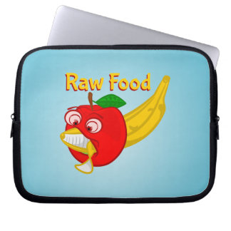Raw Foods Food Fight Apple Verses Banana Computer Sleeves