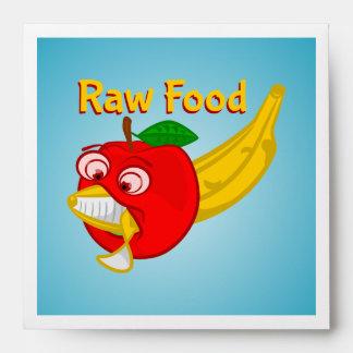 Raw Foods Food Fight Apple Verses Banana Envelope