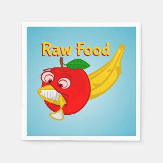 Raw Foods Food Fight Apple Verses Banana Napkin