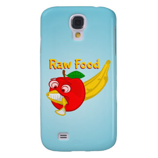 Raw Foods Food Fight Apple Verses Banana Samsung Galaxy S4 Case