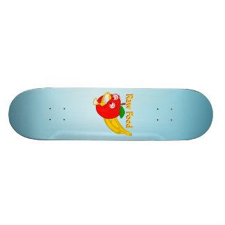 Raw Foods Food Fight Apple Verses Banana Skateboard Deck