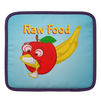 Raw Foods Food Fight Apple Verses Banana Sleeve For iPads
