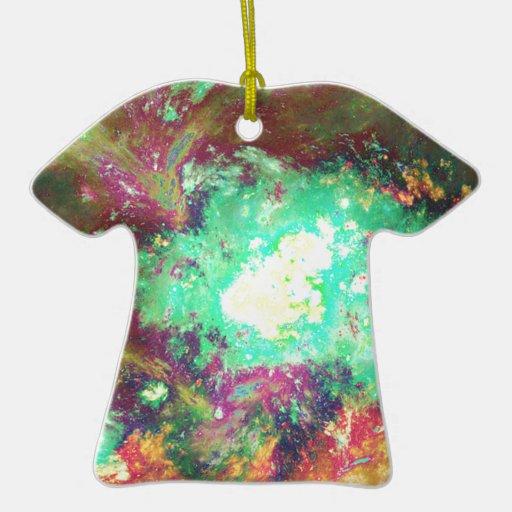 raw fractal art Double-Sided T-Shirt ceramic christmas ornament