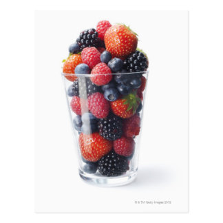 Raw fruit shake postcard
