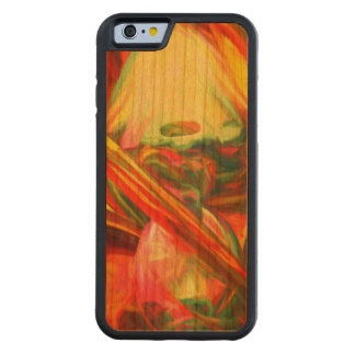 Raw Fury Painted Abstract Carved Cherry iPhone 6 Bumper Case
