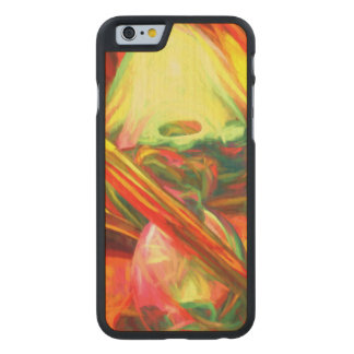 Raw Fury Painted Abstract Carved Maple iPhone 6 Slim Case