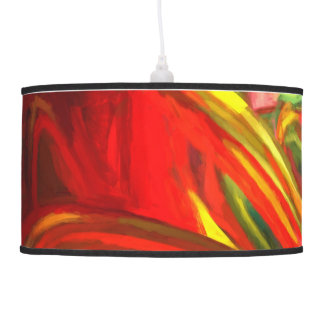 Raw Fury Painted Abstract Ceiling Lamp