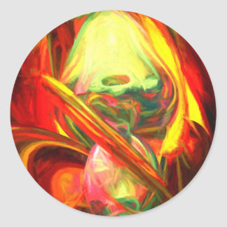 Raw Fury Painted Abstract Classic Round Sticker