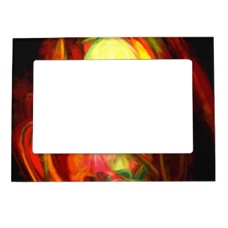 Raw Fury Painted Abstract Magnetic Picture Frame