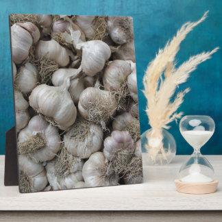 Raw Garlic Seasoning Healthy Food Wallpaper Plaque