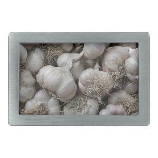 Raw Garlic Seasoning Healthy Food Wallpaper Rectangular Belt Buckle