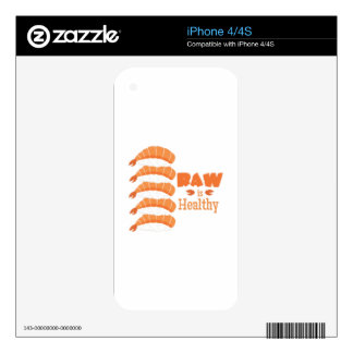 Raw Healthy iPhone 4 Decal