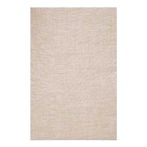 Raw Linen Stationery