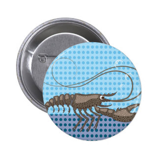 Raw Lobster vector Button
