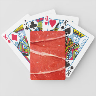 Raw Meat Beef Steaks Playing Cards