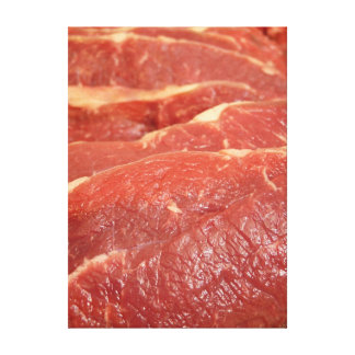 Raw Meat Canvas Print
