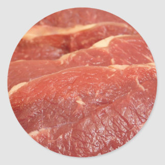 Raw Meat Classic Round Sticker