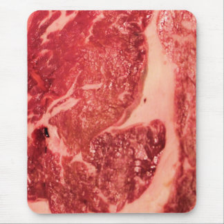 Raw Meat Ribeye Steak Texture Mouse Pad