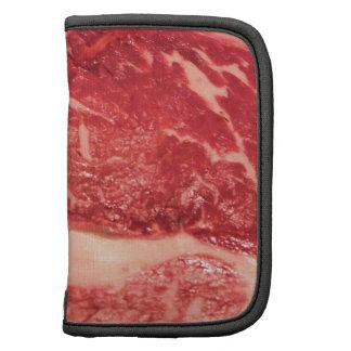 Raw Meat Ribeye Steak Texture Folio Planner