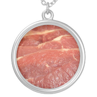 Raw Meat Silver Plated Necklace