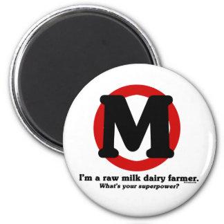 Raw Milk Dairy Farmer 2 Inch Round Magnet