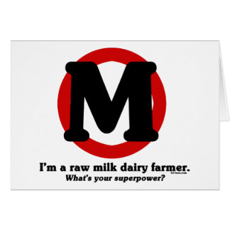 Raw Milk Dairy Farmer Card