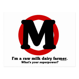 Raw Milk Dairy Farmer Postcard