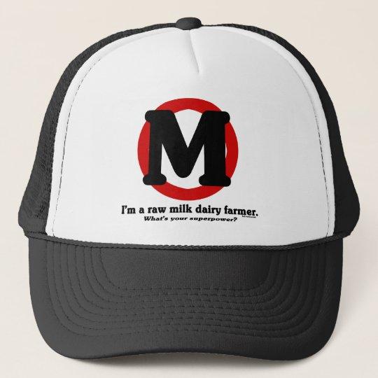 Raw Milk Dairy Farmer Trucker Hat
