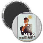 Raw milk Gifts and T-shirts 2 Inch Round Magnet