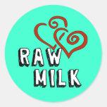 Raw Milk Love Classic Round Sticker