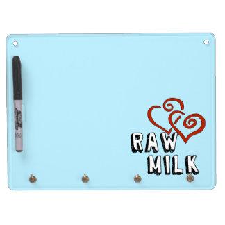 Raw Milk Love Dry Erase Board With Keychain Holder
