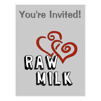 Raw Milk Love Post Cards