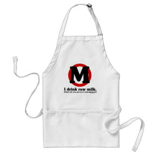 Raw Milk Superpowers Adult Apron